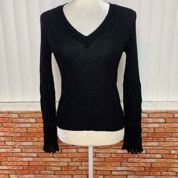 3d7404e19b5 M by Missoni Sweaters | Missoni Black Ribbed Long Sleeve Sweater ...